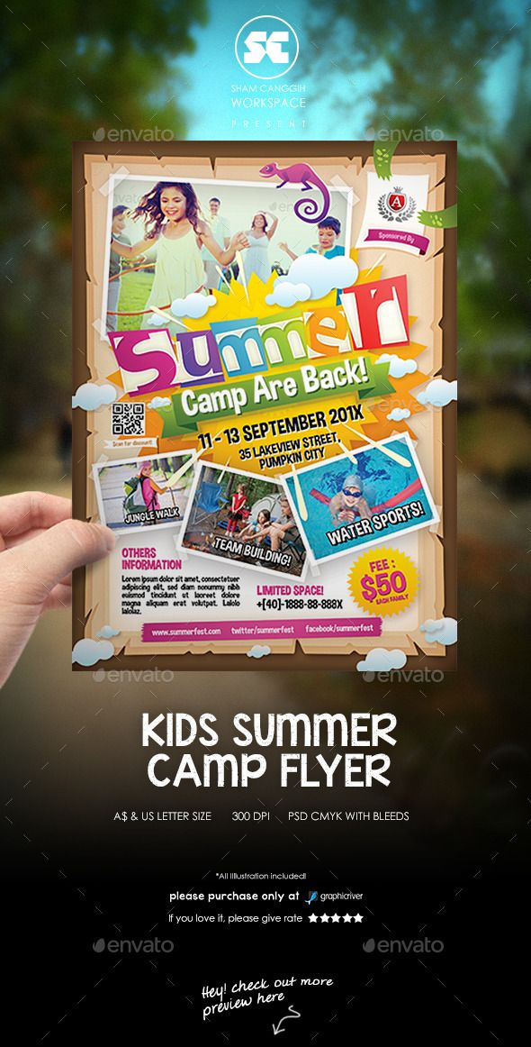 15 Excellent Flyer Templates For Your Next Event | Camping, Summer