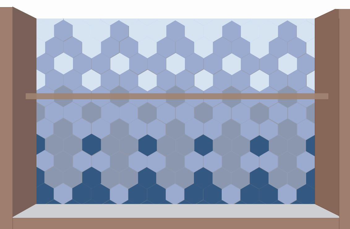 hexagonal tile layout for #uglyhaus ...with less ugly. | patterns ...