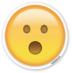 Face with Open Mouth | Emoji Stickers