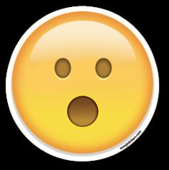 Face With Open Mouth Emojistickers Com Emoji Wallpaper Iphone Emoji Stickers Emoji Pictures