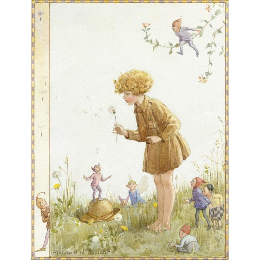 Spring Butterflies M W Tarrant Print