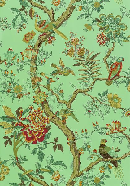 Nature pattern wallpaper washable anniversary papagayo nature pattern wallpaper washable anniversary papagayo thibaut designerfabricsusa sisterspd