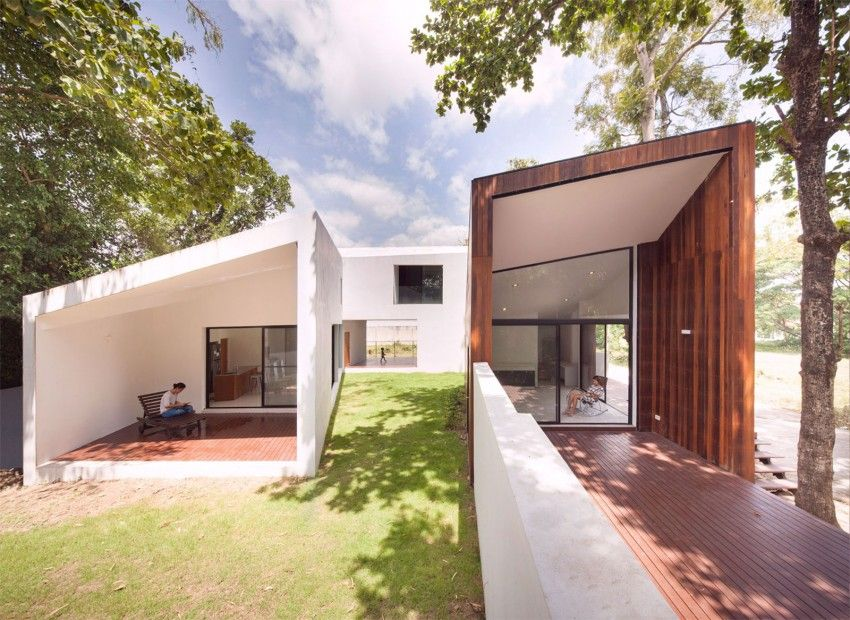 Ekar Full Scale Studio Design A Contemporary Home In Chiang Mai Thailand Modern House Design Architecture House Canal House