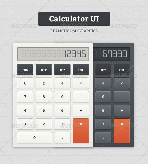 Calculator UI #GraphicRiver Description This product release