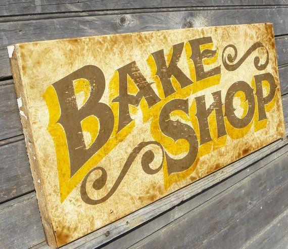 Bake Shop sign, wooden, , original, kitchen decor, personalized sign ...