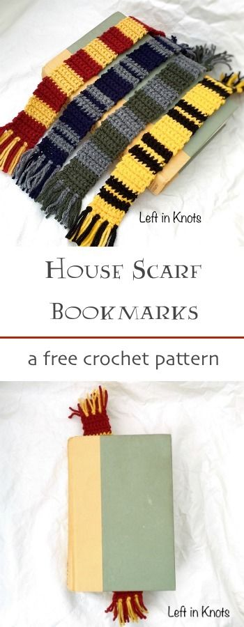 Harry Potter Inspired Bookmarks - Free Crochet Pattern | Crochet ...