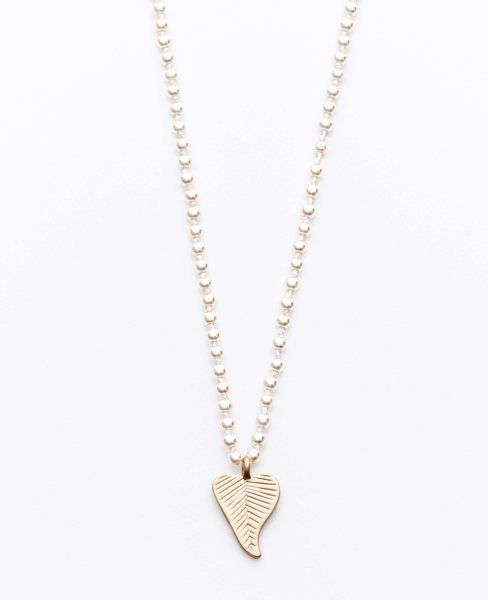 Ann Taylor - AT View All - Short Leaf Pendant Necklace