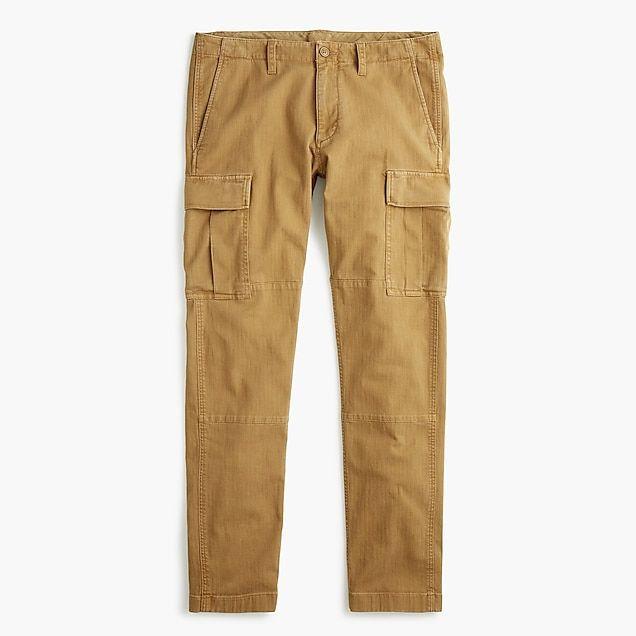 7015ce8df3 men's 484 slim-fit stretch cargo pant in garment-dyed herringbone - men's  pants