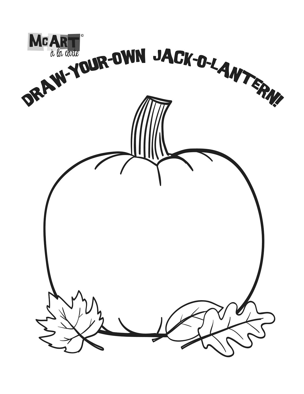 Mcart A La Carte Draw Your Own Jack O Lantern
