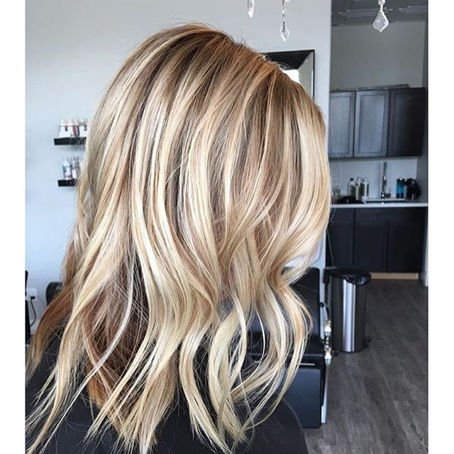 Tips On Blending Great Colors With Beige: COLOR:: Honey Blonde And Beige Blend #balayage #highlights