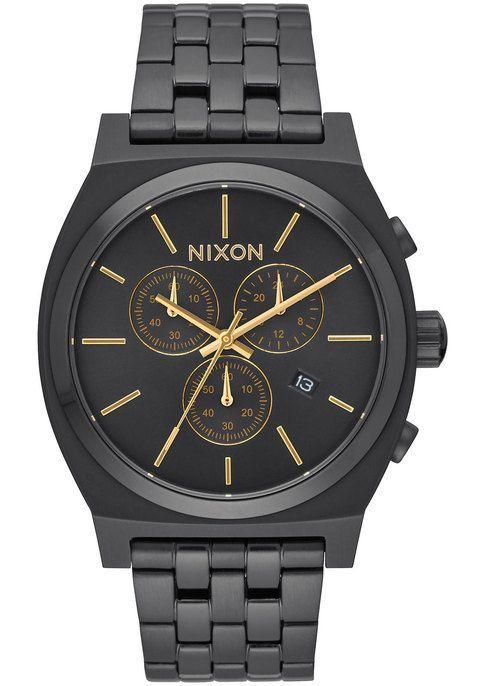 74c141b55b52 Nixon Time Teller Chrono All Black Gold   Xmas   Watches, Watches ...