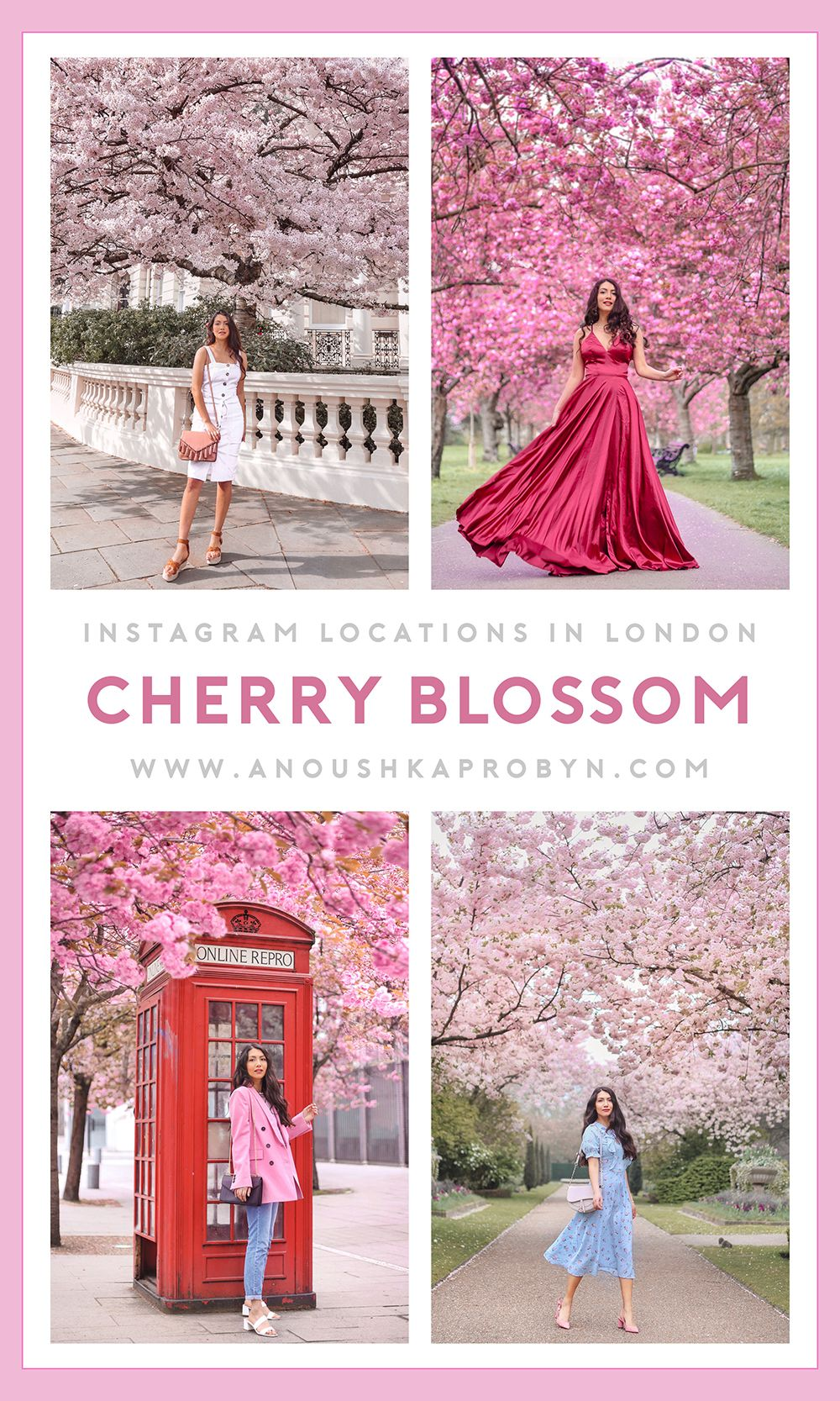 Cherry Blossom Instagram Locations In London Where To Spot Spring Blooms In The City Anoushka Probyn Instagram Locations Spring Blooms London Instagram