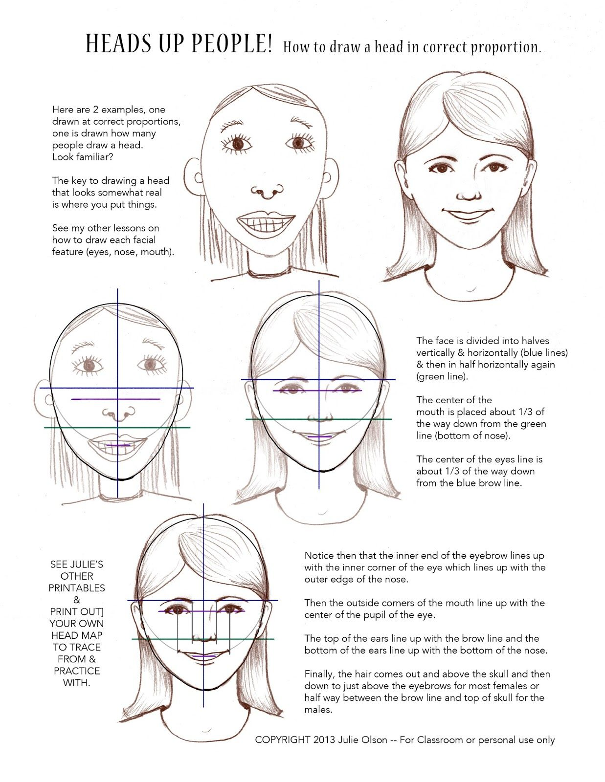 Girl Face Worksheet