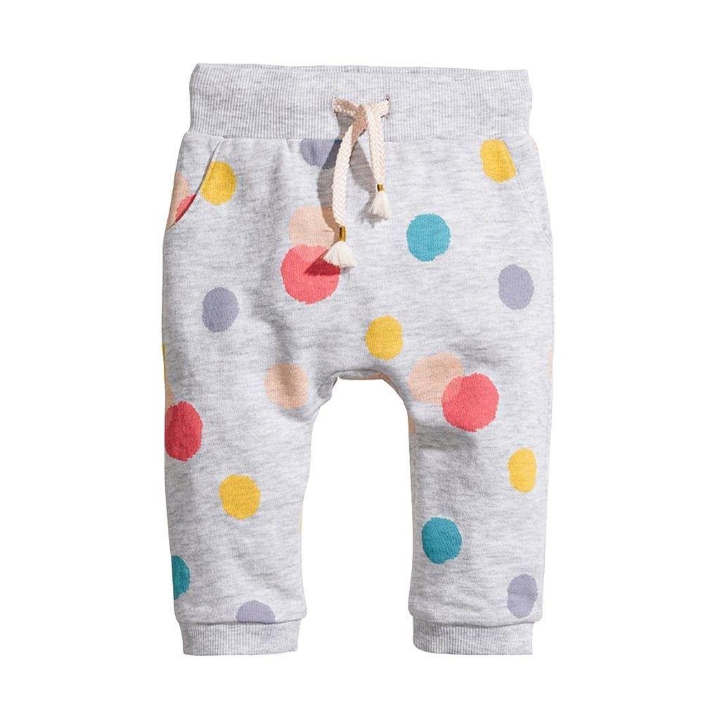 Toddler Girls' Polka Dot Print Sweatpants Loose Fit Pull On Active Jogger Pants - Polka Dot Pattern...
