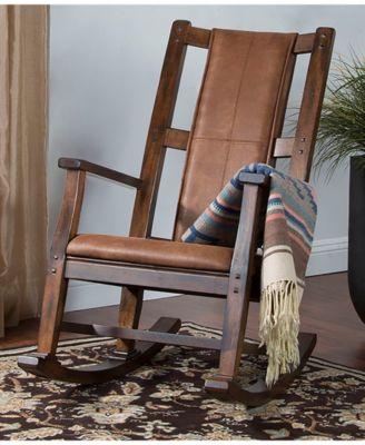 Phenomenal Santa Fe Dark Chocolate Rocker Cushion Seat Dark Brown Short Links Chair Design For Home Short Linksinfo