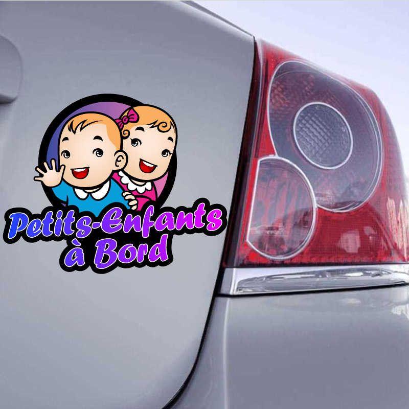 autocollant enfants à bord voiture