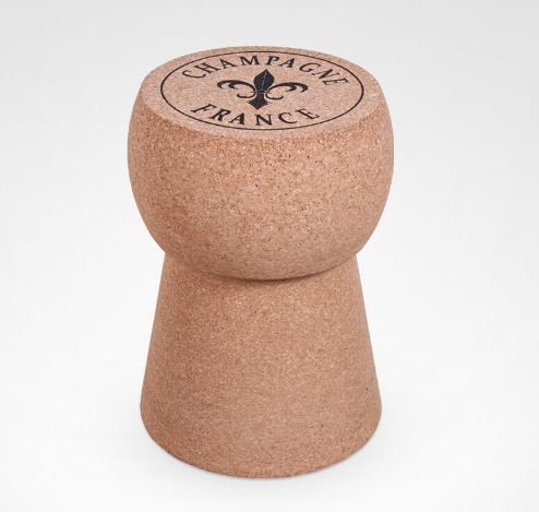 Stool / Side Table   Tamborete / Mesa Supote Rolha Champagne