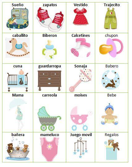 Aporte Loteria De Baby Shower Baby En 2019 Juegos Para Fiestas De Reci 233 N Nacidos Juegos De