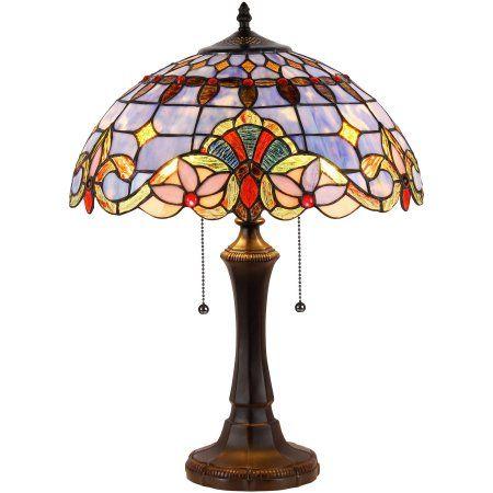Chloe Lighting Cooper Tiffany Style 2 Light Victorian Table Lamp