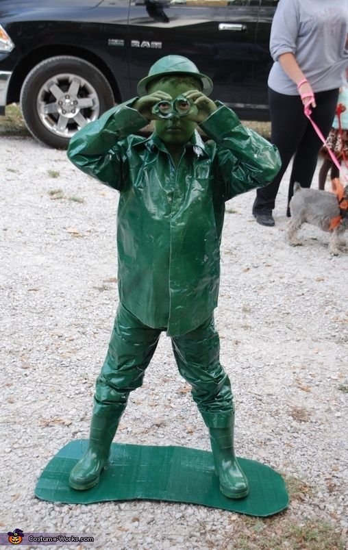 Green Plastic Toy Army Man - Halloween Costume Contest at Costume - mens homemade halloween costume ideas