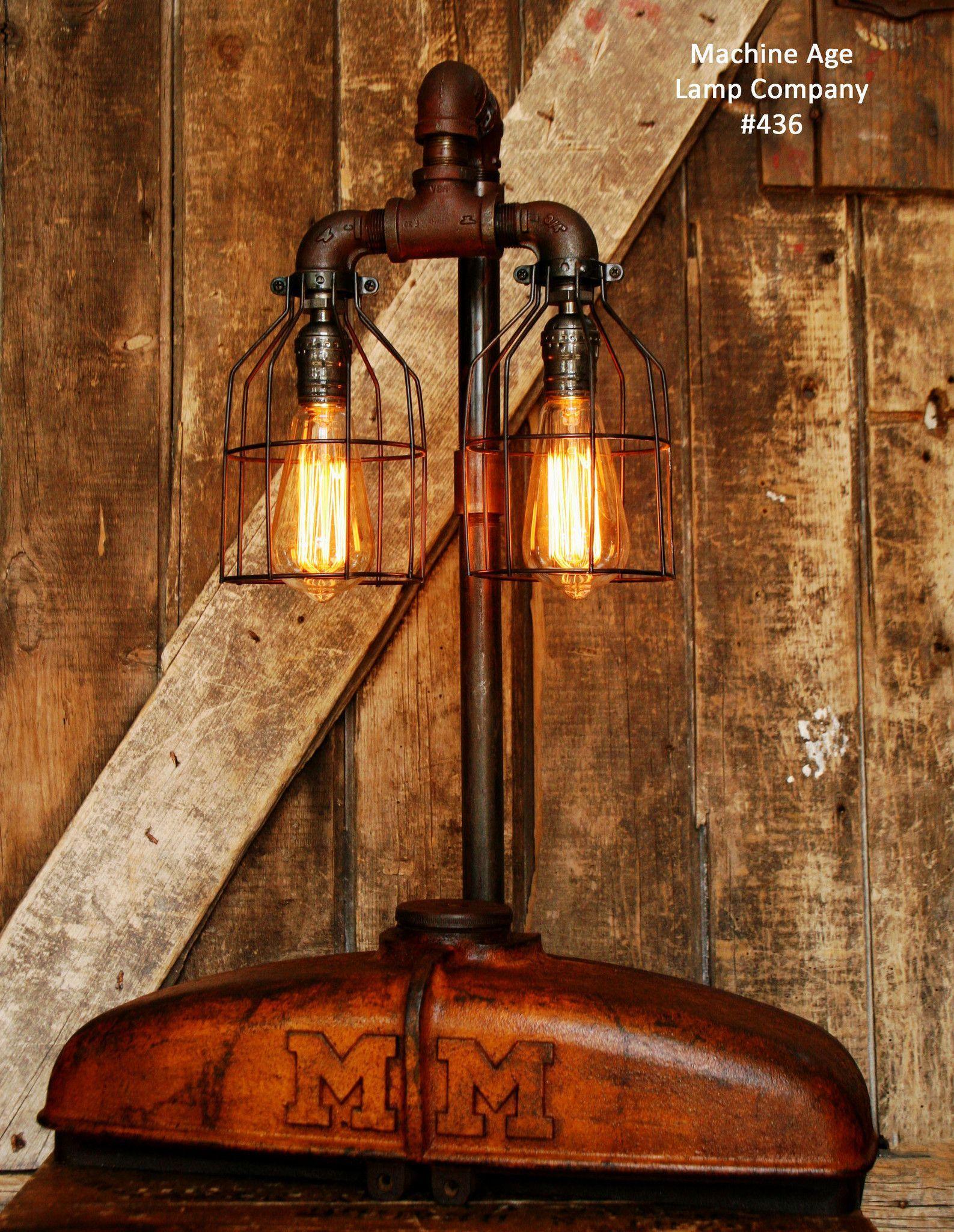 Industrial Lamp, Antique Minneapolis Moline Farm Tractor - #436