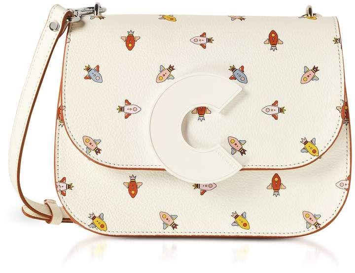 Tiefstpreis schnell verkaufend neuer Stil Coccinelle Craquante Razzo Printed Leather Shoulder Bag in ...