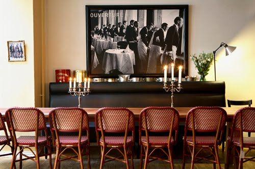 Clemmensen and Brok: Beau Marché Café à Vins; new cozy French café in Copenhagen.