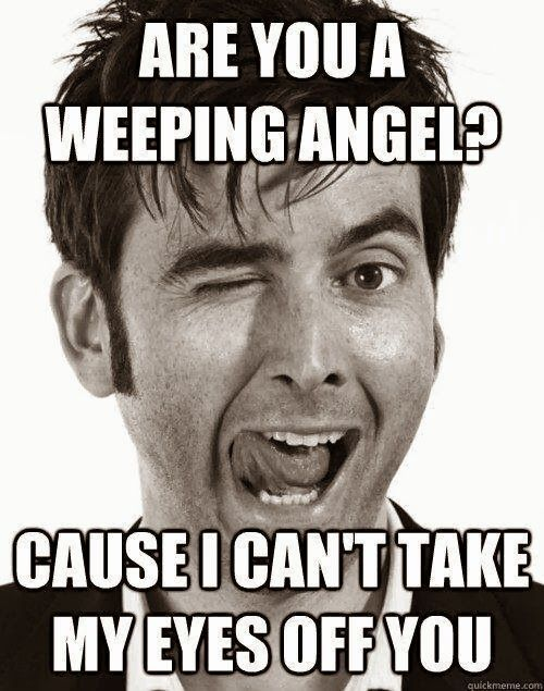 Weeping angel doctor who meme are you a weeping angel for Fish pick up lines