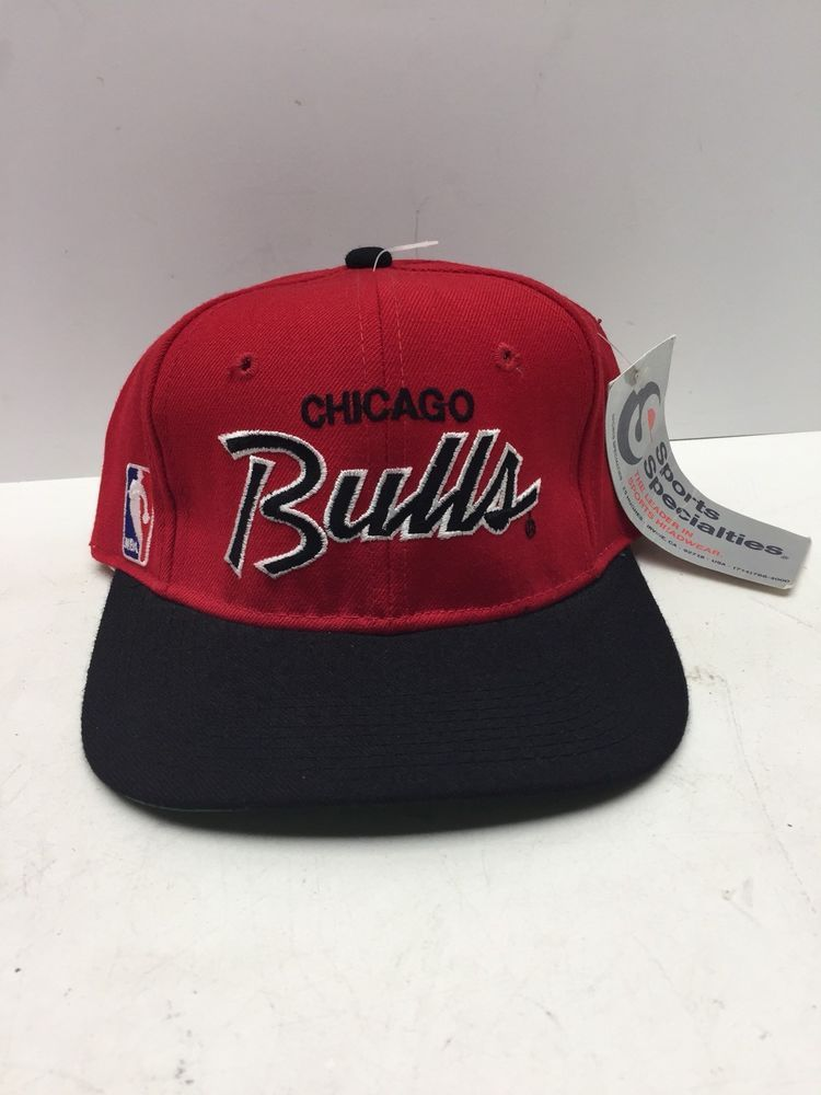 NWT VTG Sports Specialties Script NBA Chicago Bulls Hat - Fitted 6 3 4 -  Wool (eBay Link) 05f4e0e9c724