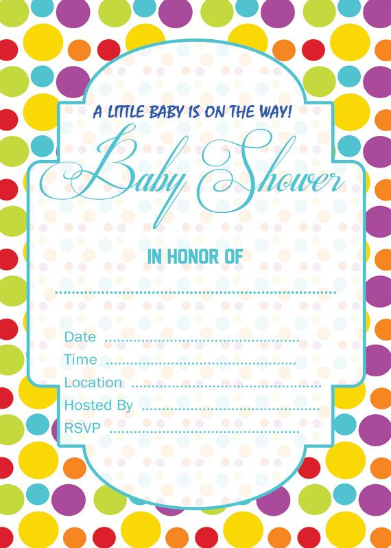 Super cute printable basic invitations. You are free to print as ...