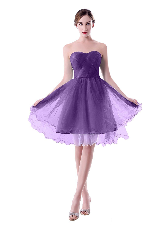 ShangShangXi Strapless Party Short Knee Length Bridesmaid Dress ...
