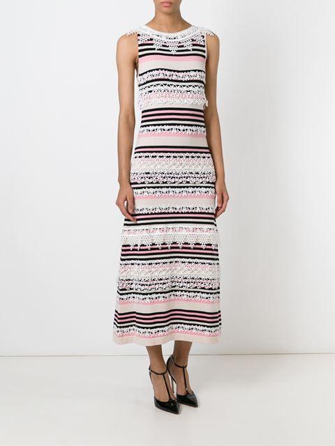 Chanel Vintage Striped Knit Dress - Rewind Vintage Affairs - Farfetch.com