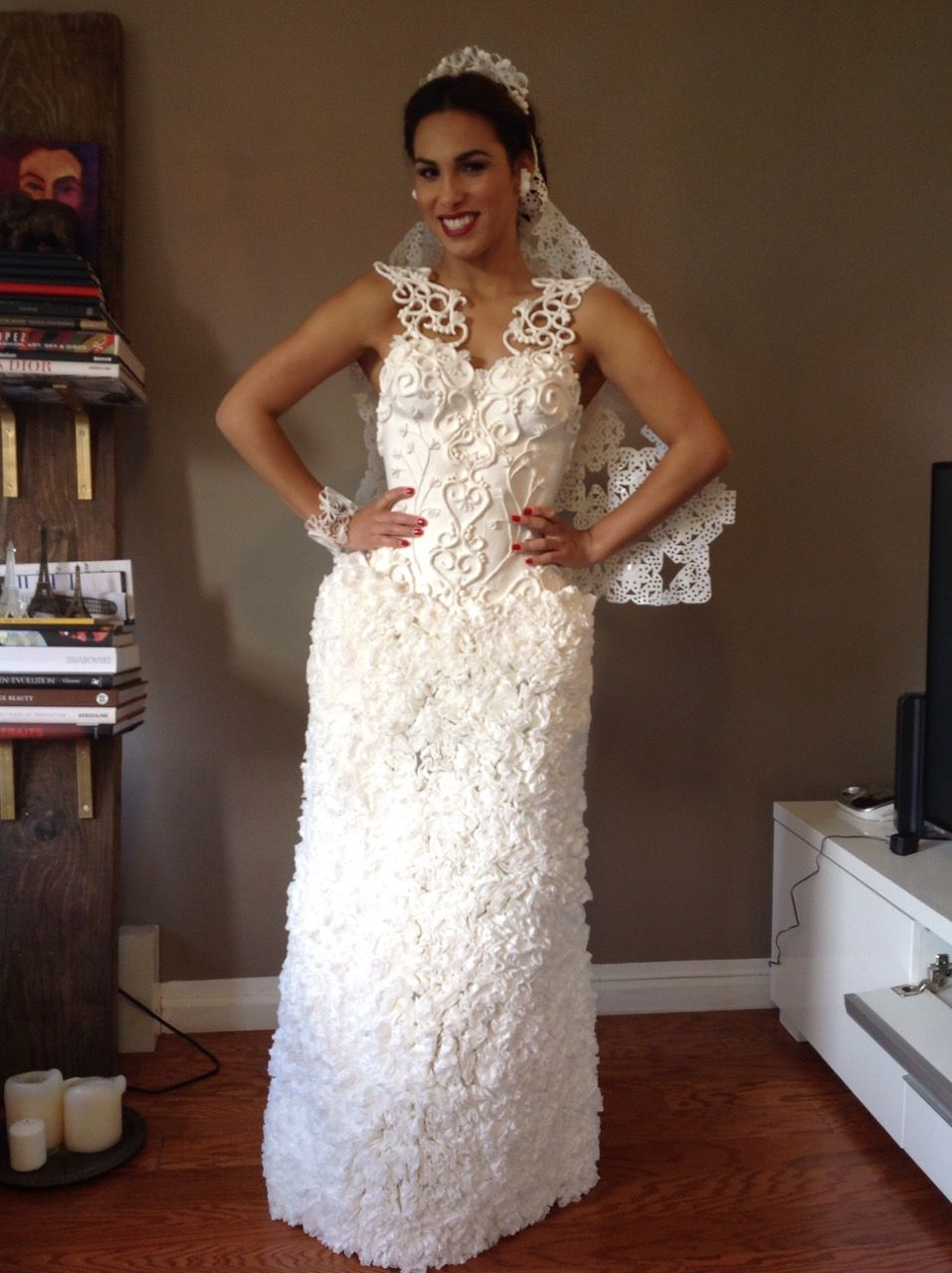 On Thursday Cheap Chic Weddings Hosted Its Annual Toilet Paper Wedding Dress Contest And Call Me Crazy But I Thought The Top 10 Finalist Gowns Were