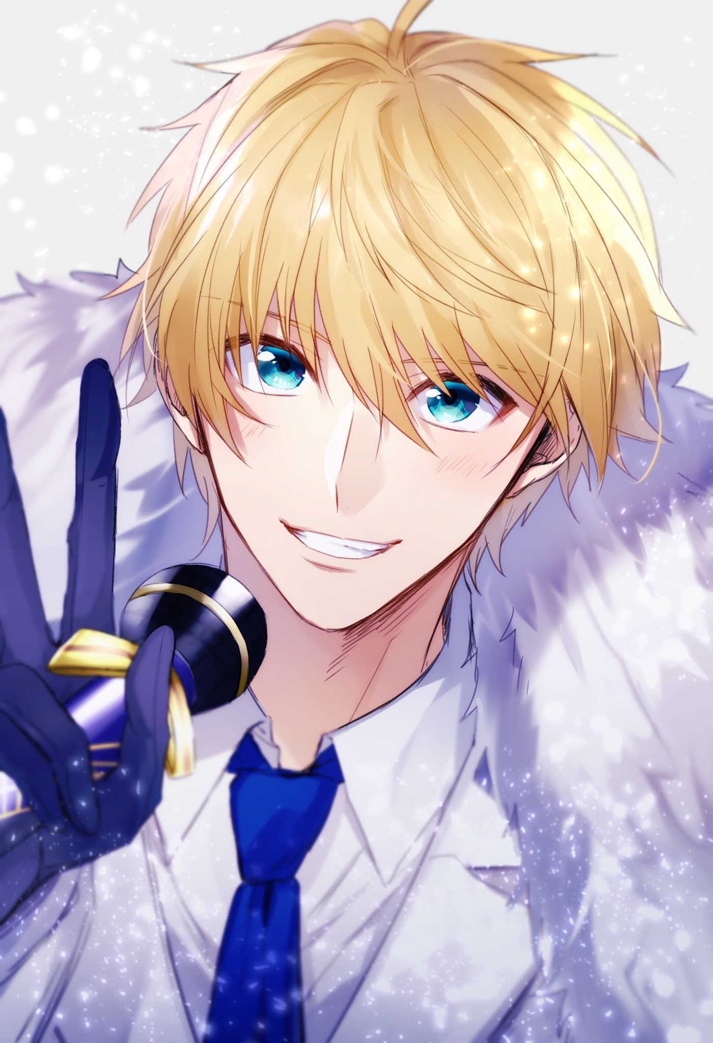 Wow he has pretty eyes! Anime, Tóc vàng, Trai đẹp