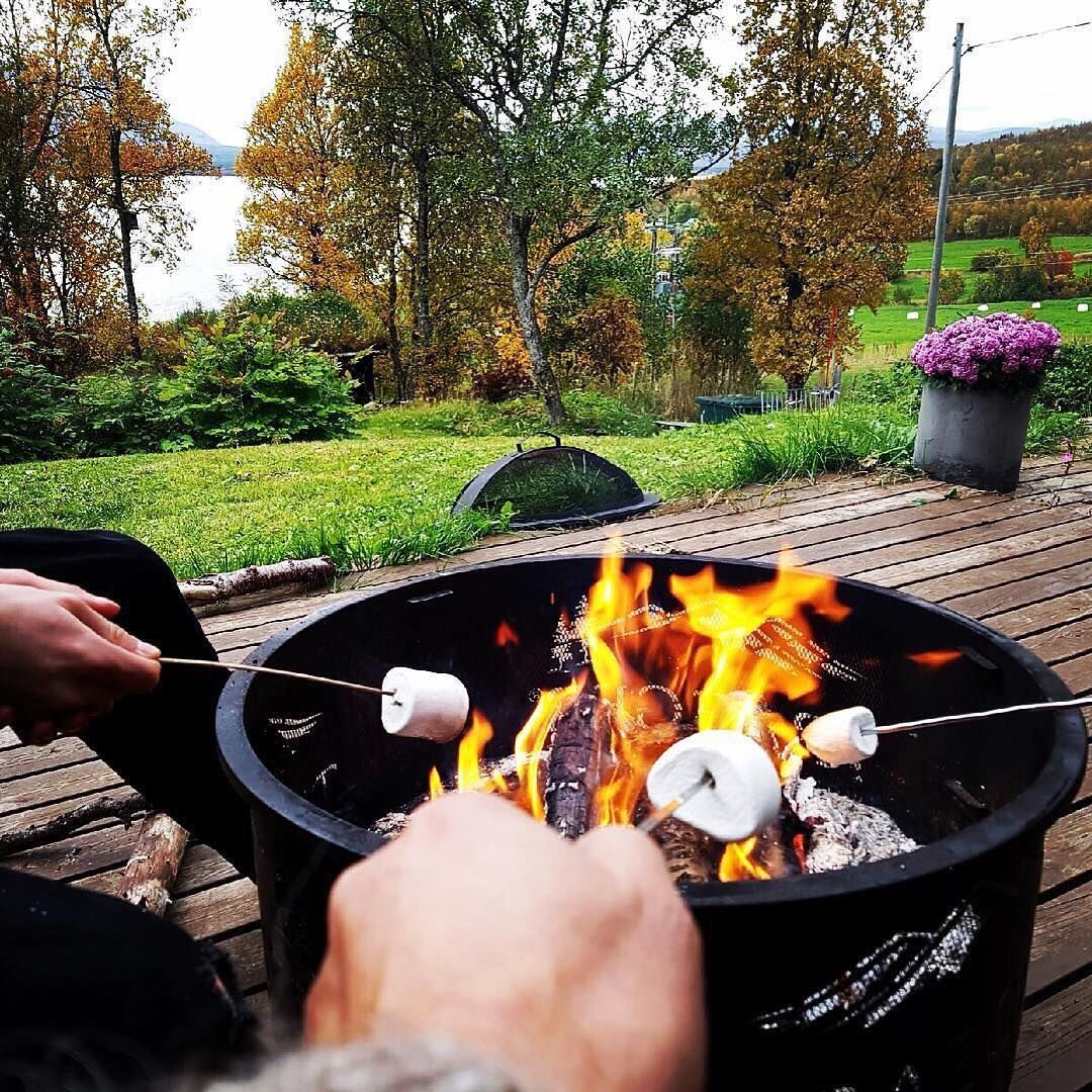 Keep your mallows and your crew toasty warm with a Traeger Fire Pit. - Keep Your Mallows And Your Crew Toasty Warm With A Traeger Fire Pit