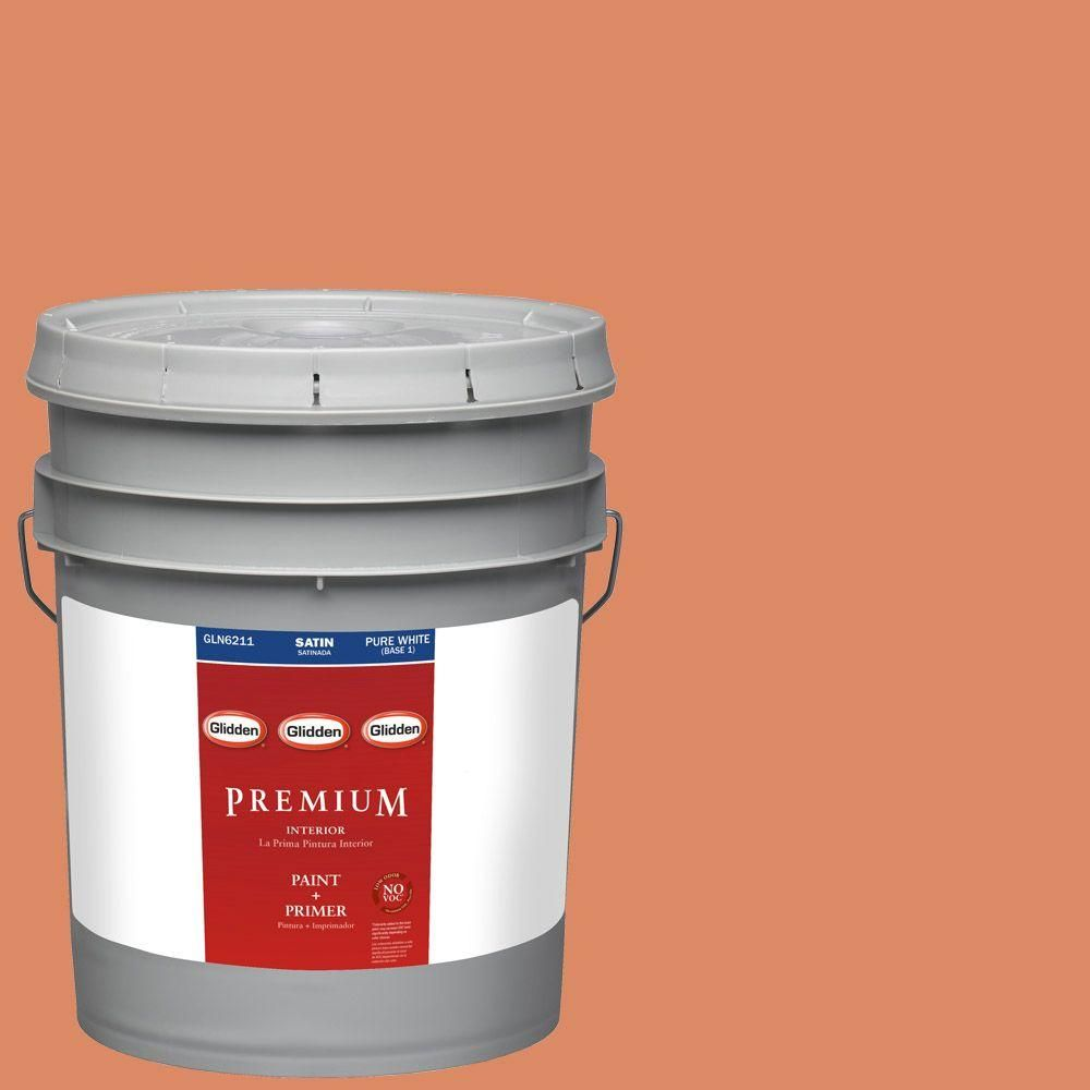 Glidden Premium 5-gal. #HDGO20D Canyon Stone Satin Latex Interior Paint with Primer