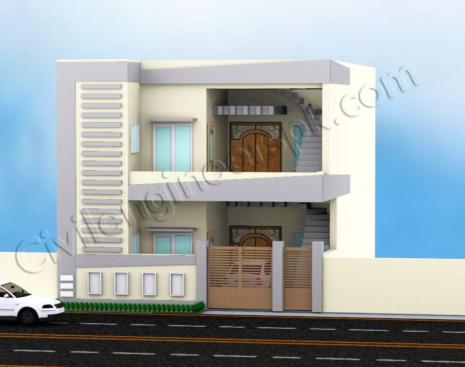 Good Front Design Of 3 Marla House Part - 9: 5 Marla House Design