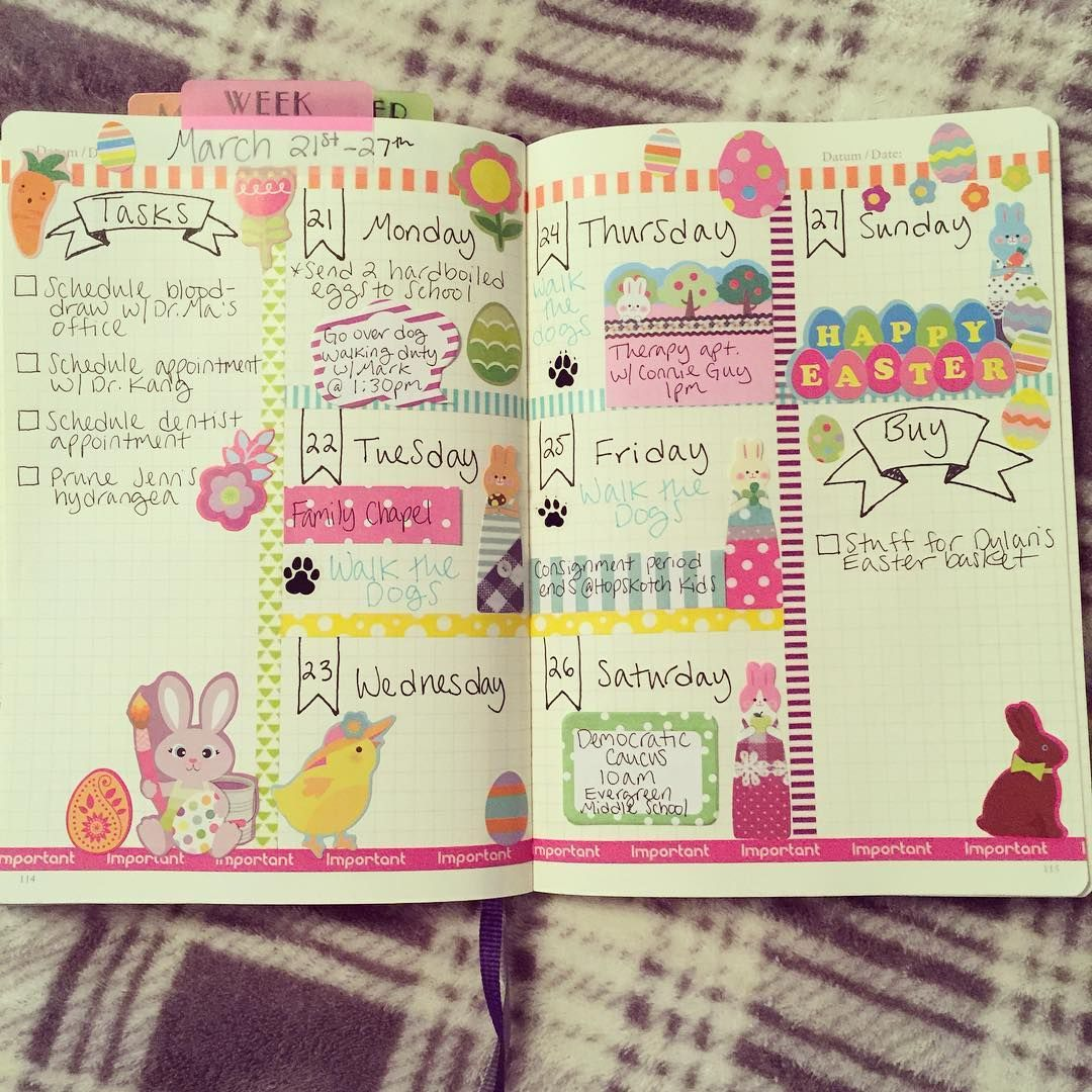 """""""I really like this new weekly layout I've been trying out. It leaves plenty of room for decorating.  #bulletjournal #leuchtturm1917 #planwithmechallenge…"""""""