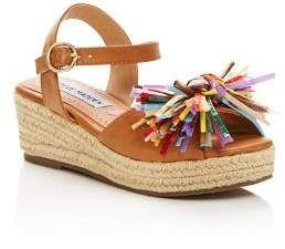 e21b0fe24e2b Steve Madden Girls  JStrwbri Platform Wedge Espadrille Sandals - Little Kid
