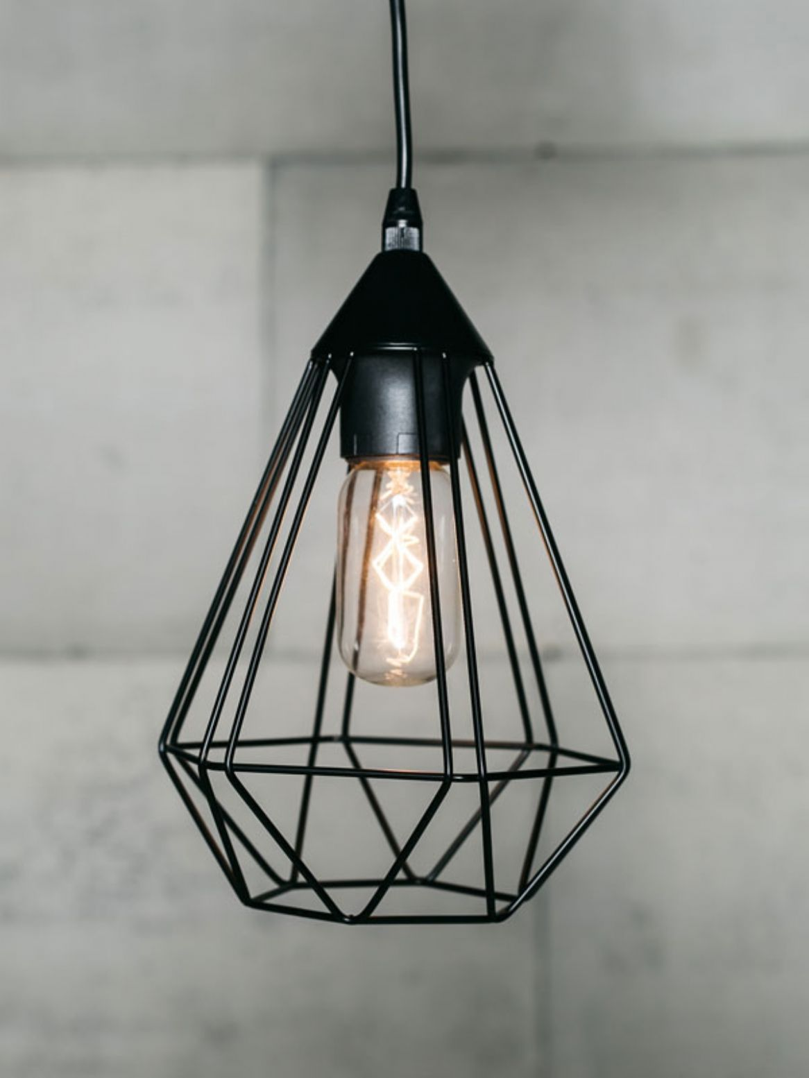 Black cage pendant light Had these in local Forsyths shop - idea for kitchen above breakfast & Black cage pendant light Had these in local Forsyths shop - idea for ...