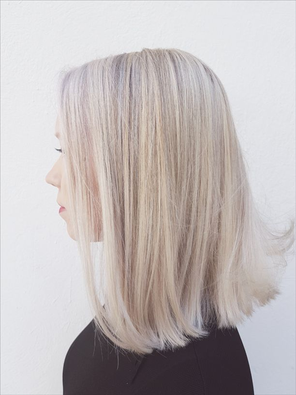 Ice blonde locks made by Susanna Poméll / @healthyhairfinland