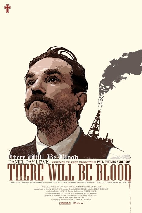 Daniel Day Lewis Retro movie poster There will be blood
