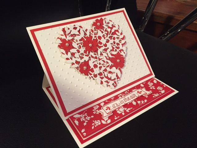 Stampin up Bloomin' Love Valentine card. #diyvalentinecards
