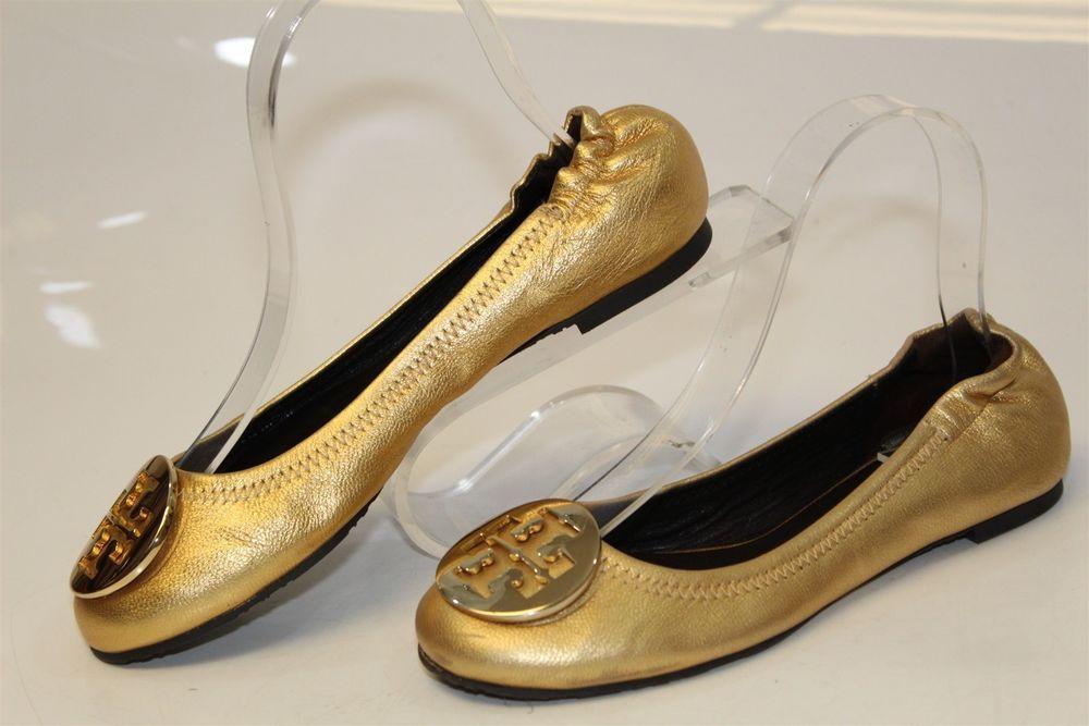 1c771b10c1e9 Tory Burch MISMATCH Womens 5.5 6 M REVA Gold Leather Ballet Flats Shoes jz   fashion  clothing  shoes  accessories  womensshoes  flats (ebay link)