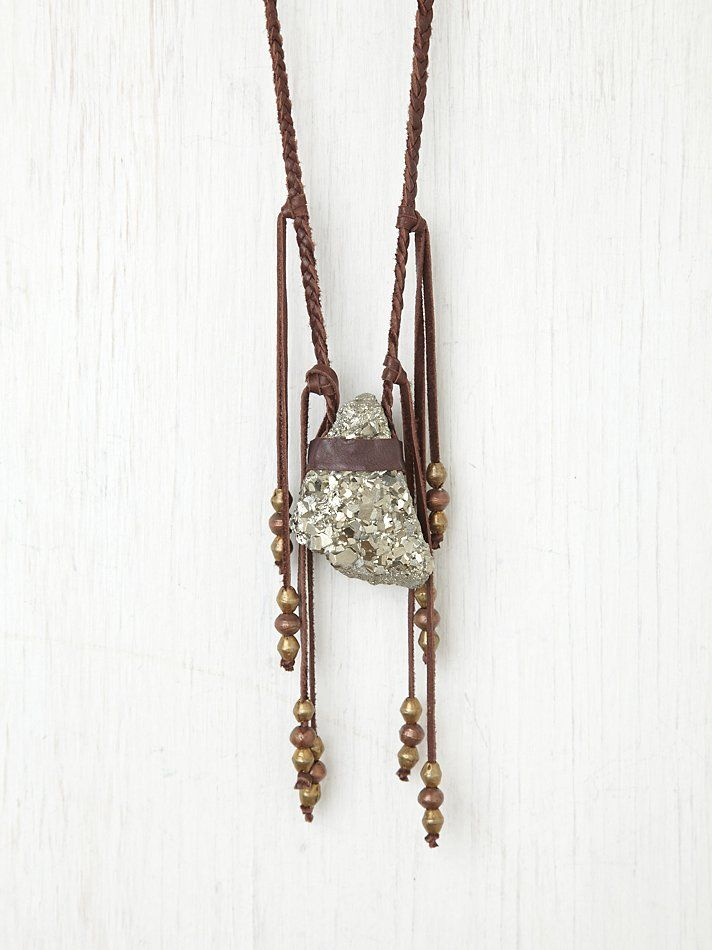Torchlight Pyrite Vagabond Necklace in Brown wyKd3