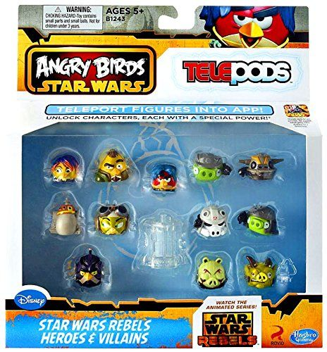 Angry Birds Star Wars Rebels Heroes Villians Telepods Angry