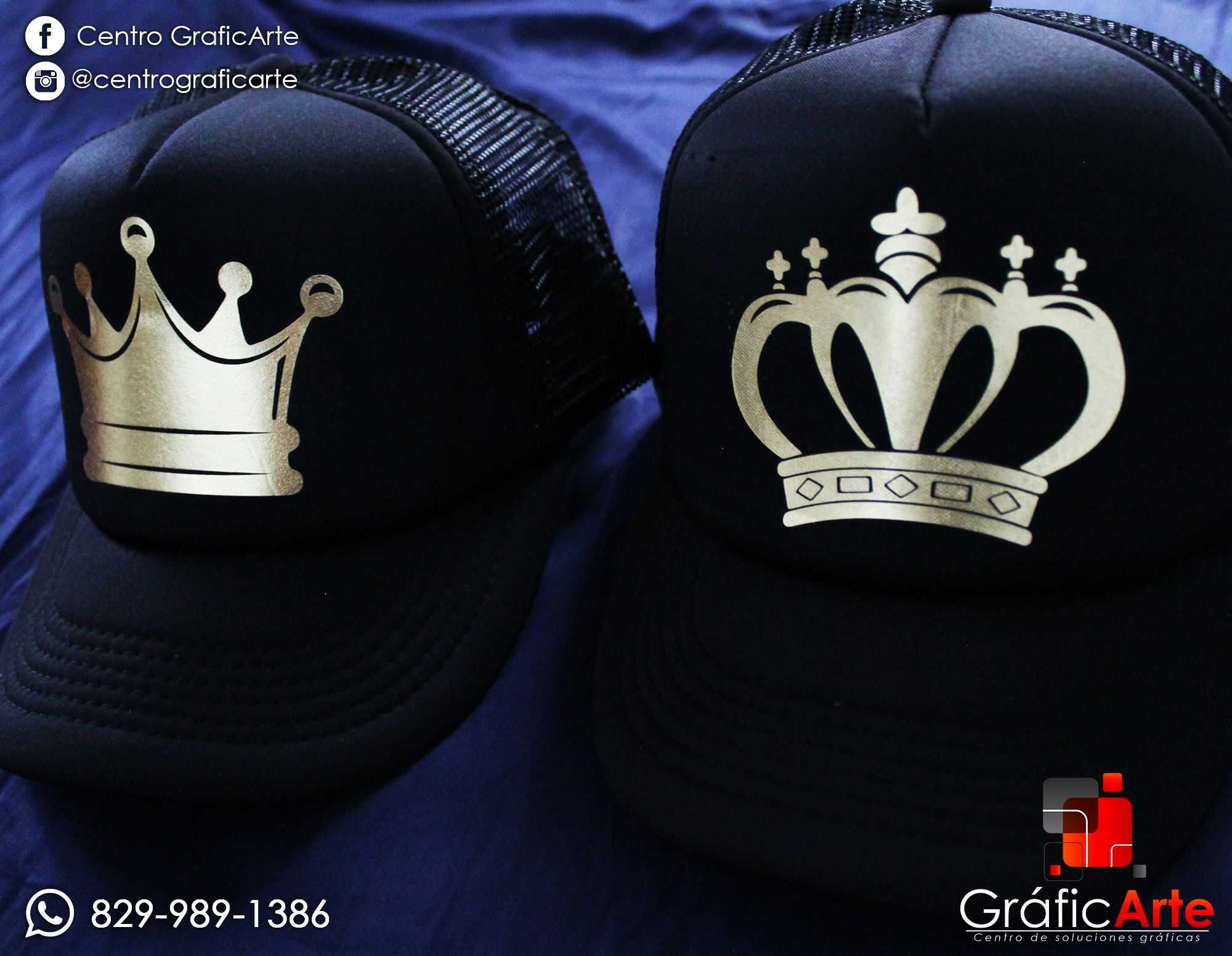 51dbb3ea7 King and Queen  Gorras personalizado.  couple  parejas  pareja  king ...