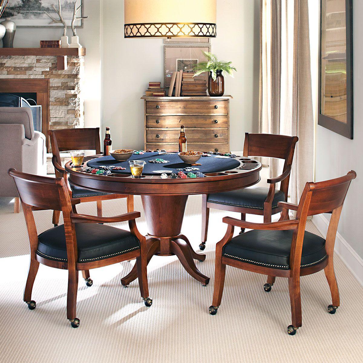 Hardwood Reversible Poker Table | Morris Collection