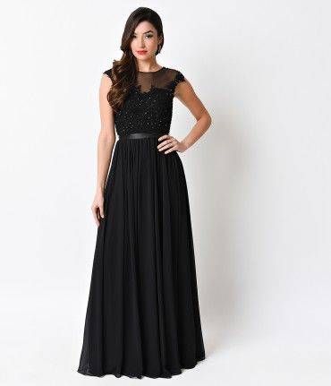 Elegant and enchanting! With it's sexy sheer overlay, this beautiful black dress is a perfect choice for a special occas...Price - $148.00-2TQD04Ws