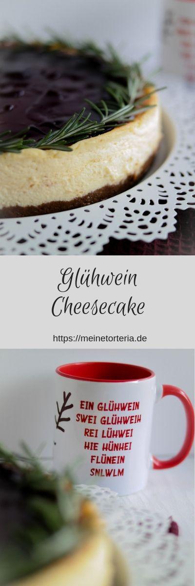 Glühwein-Cheesecake für den Food Blogger Adventskalender 2018 - Meine Torteria